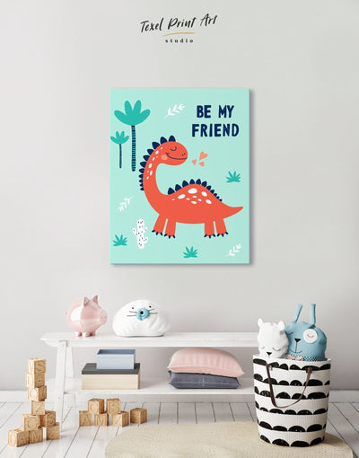 Dinosaur Wall Art for Nursery Canvas - Canvas Wall Art 1 panel Kids room kids wall art Nursery Nursery Wall Art