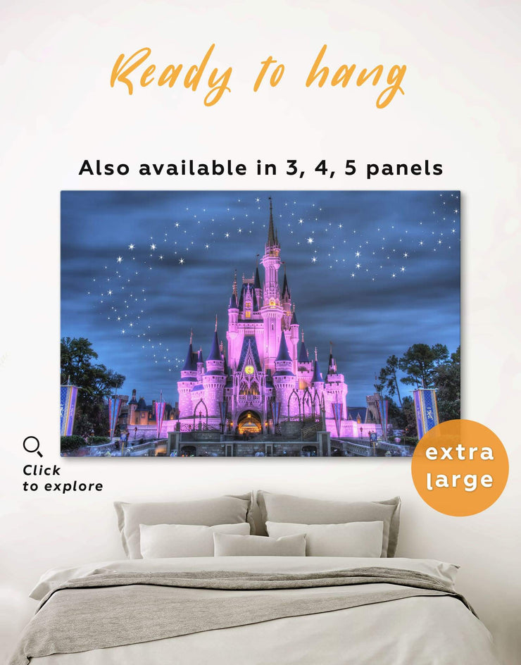 Disney Wall Art Canvas Print - 1 panel bedroom disney Kids room kids wall art