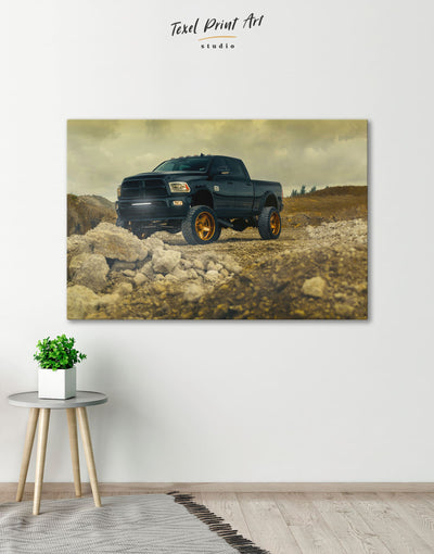 Dodge Car Wall Art Canvas Print - 1 panel bachelor pad car garage wall art Hallway