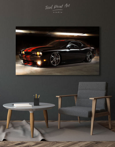 Dodge Challenger Wall Art Canvas Print - 1 panel bachelor pad Car Hallway Living Room