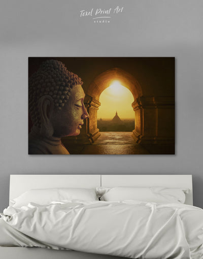 Equanimity of Buddha Wall Art Canvas Print - 1 panel bedroom Brown Buddha wall art buddhist wall art