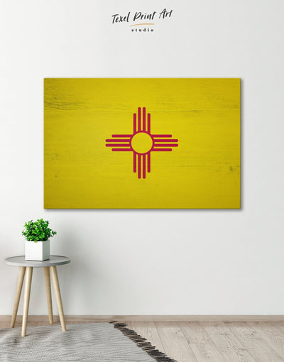 Flag of New Mexico Wall Art Canvas Print - Canvas Wall Art 1 panel flag wall art Hallway Living Room Office Wall Art