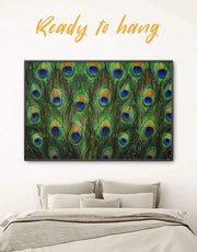 Framed Abstract Feather Wall Art Canvas