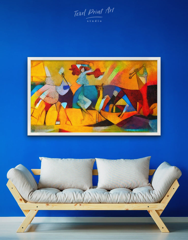 Framed Abstract Picasso Wall Art Canvas - Abstract art gallery wall bedroom Contemporary contemporary wall art
