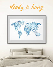 Framed Abstract World Map Print