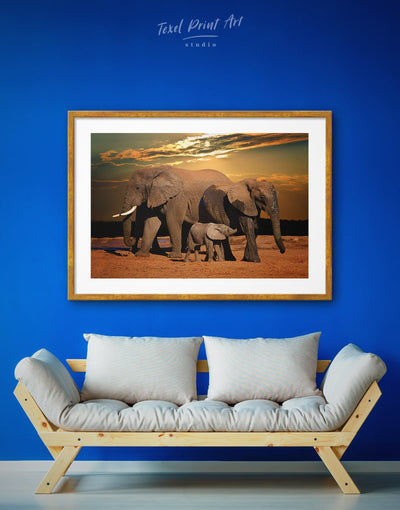 Framed African Nature Wall Art Print - Animal Animals bedroom Brown Dining room