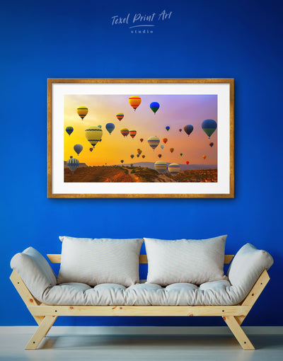 Framed Air Balloon Wall Art Print - bedroom Dining room framed print Hot air balloon inspirational wall art