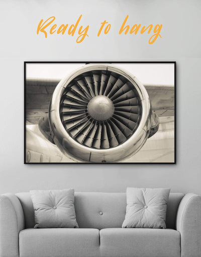 Framed Airplane Wall Art Canvas - Aviation bachelor pad bedroom framed canvas Hallway