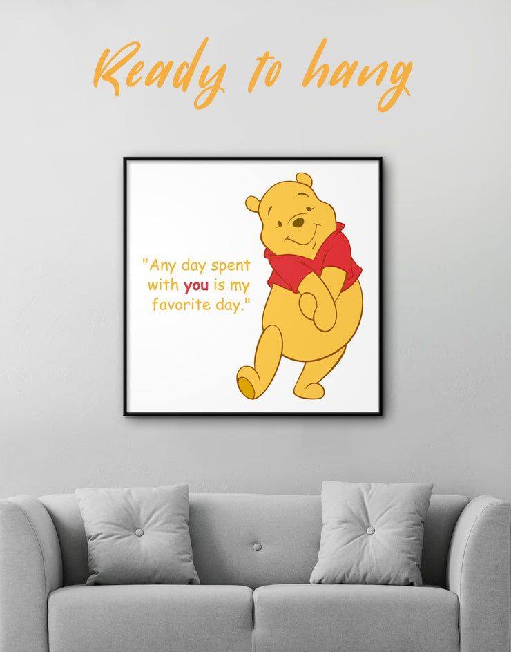 Framed Any Day Spent With You Is My Favorite Day Wall Art Canvas - Canvas Wall Art bedroom framed canvas Hallway inspirational wall art Kids