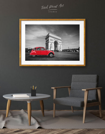 Framed Arc De Triomphe Wall Art Print - bedroom framed print french wall art Grey Hallway