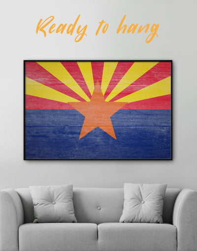 Framed Arizona Wall Art Canvas - blue flag wall art framed canvas Hallway Living Room