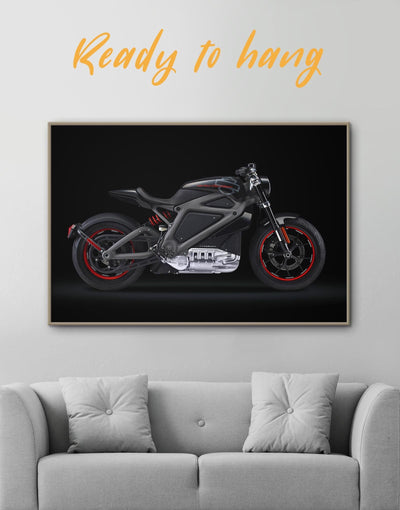 Framed Avengers Motorcycle Wall Art Canvas - Canvas Wall Art bachelor pad bedroom black framed canvas Hallway