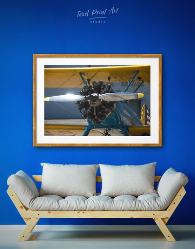 Framed Aviation Plane Wall Art Print - airplane wall art bachelor pad bedroom framed print Hallway