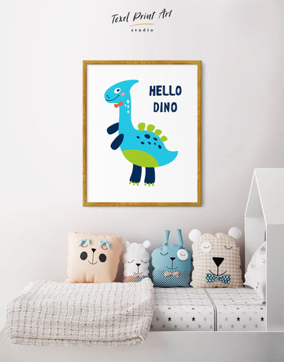 Framed Baby Dinosaur Wall Art Canvas - Canvas Wall Art framed canvas Kids room kids wall art Nursery Nursery animal prints