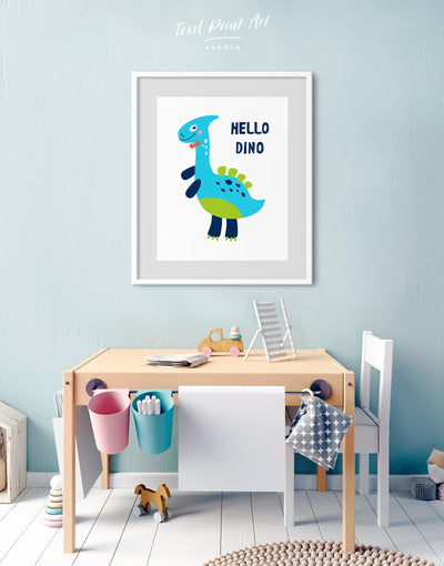Framed Baby Dinosaur Wall Art Print - Wall Art framed print Kids room kids wall art Nursery Nursery animal prints