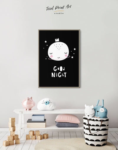 Framed Baby Room Art Canvas - Canvas Wall Art Black black and white framed canvas Kids room kids wall art