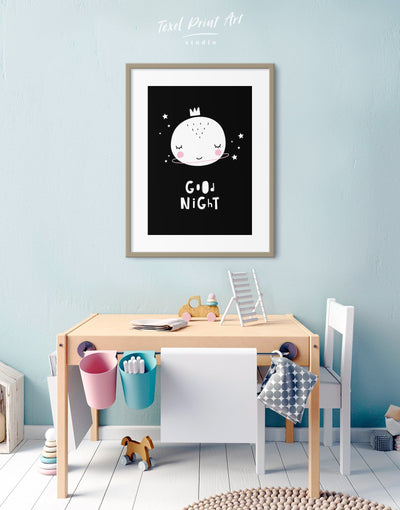 Framed Baby Room Art Print - Wall Art black black and white framed print Kids room kids wall art