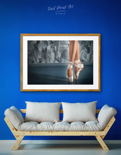 Framed Ballerina Wall Art Print - ballerina wall art bedroom Dancers wall art framed print framed wall art
