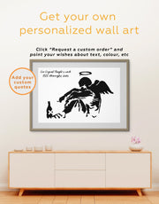 Framed Banksy's Fallen Angel Wall Art Print