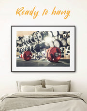 Framed Barbell Wall Art Print