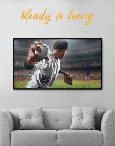 Framed Baseball Wall Art Canvas - bachelor pad baseball wall art bedroom framed canvas inspirational wall art