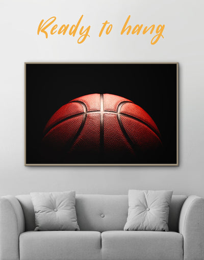 Framed Basketball Wall Art Canvas - Canvas Wall Art basketball black framed canvas Hallway Living Room