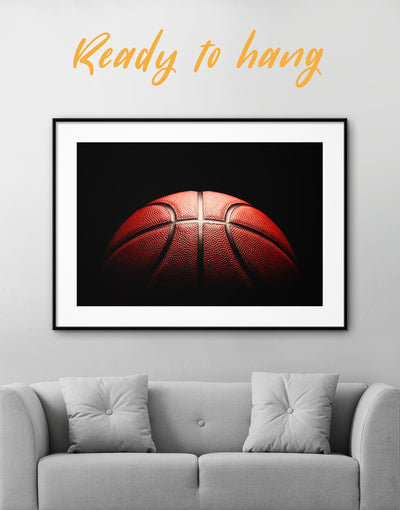Framed Basketball Wall Art Print - Wall Art basketball black framed print Hallway Living Room
