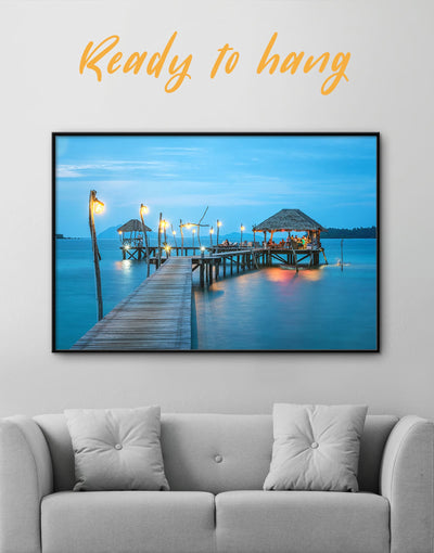 Framed Beach Wall Art Canvas - bedroom Blue Blue Wall Art blue wall art for bedroom Blue wall art for living room