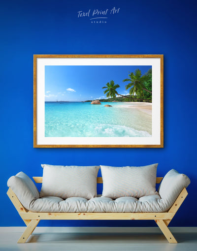 Framed Beach Wall Art Print - beach wall art bedroom Blue blue wall art for bedroom Blue wall art for living room