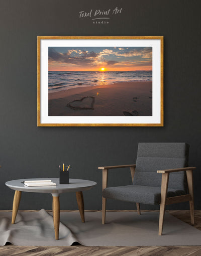 Framed Beautiful Sunset Wall Art Print - bedroom Dining room framed print Hallway Living Room