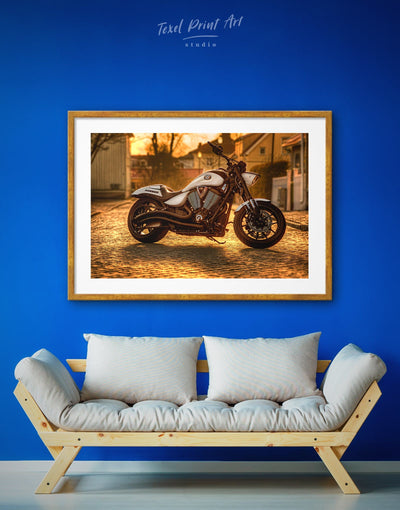 Framed Bike Wall Art Print - bachelor pad bedroom framed print Hallway inspirational wall art