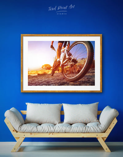 Framed Bike Wall Art Print - bedroom bicycle wall art framed framed print Hallway