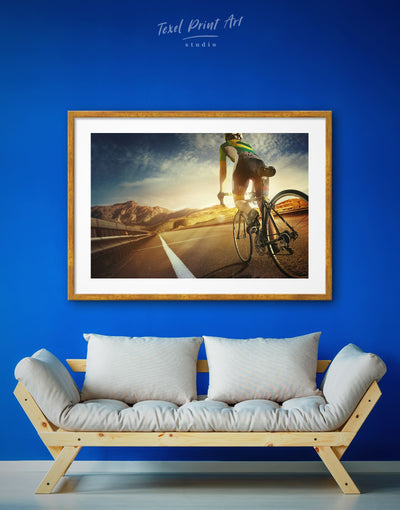 Framed Bike Wall Art Print - bicycle wall art framed print inspirational wall art Living Room Motivational
