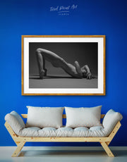 Framed Black And White Erotic Wall Art Print