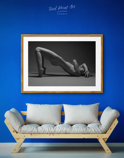 Framed Black And White Erotic Wall Art Print - bachelor pad bedroom black and white framed wall art black and white wall art Erotic