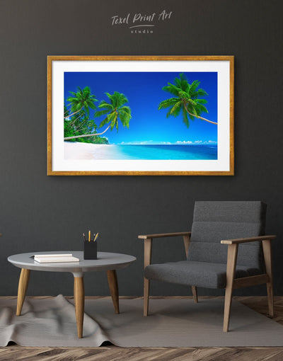 Framed Blue Ocean Wall Art Print - bedroom Blue blue wall art for bedroom Blue wall art for living room coastal wall art