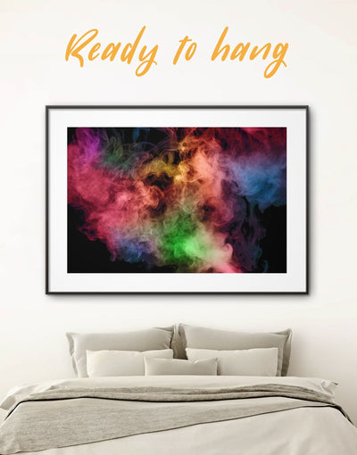 Framed Bright Smoke Wall Art Print - Abstract bedroom Black Contemporary framed print