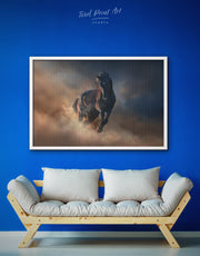 Framed Brown Horse Wall Art Canvas
