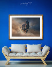 Framed Brown Horse Wall Art Print