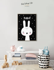 Framed Bunny Nursery Art Canvas