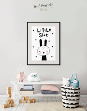 Framed Bunny Wall Art Print