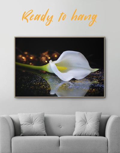 Framed Calla Lily Wall Art Canvas - Canvas Wall Art bedroom flora Floral flower framed canvas
