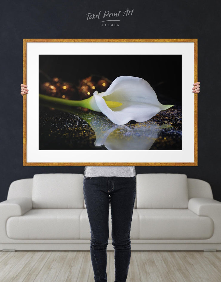 Framed Calla Lily Wall Art Print - Wall Art bedroom flora Floral flower framed print
