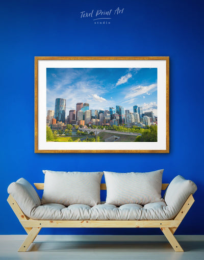 Framed Canada Cityscape Wall Art Print - bedroom Blue blue and green wall art City Skyline Wall Art Cityscape