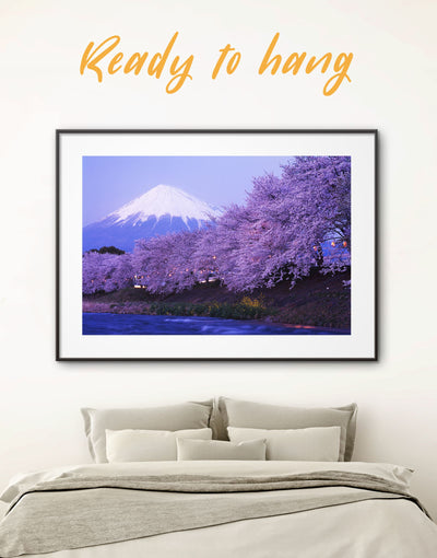 Framed Cherry Blossom Wall Art Print - bedroom cherry blossoms wall art framed print framed wall art japanese wall art