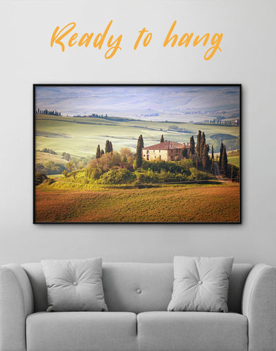 Framed Chiana Valley Italy Wall Art Canvas - bedroom framed canvas Hallway Italy wall art landscape wall art