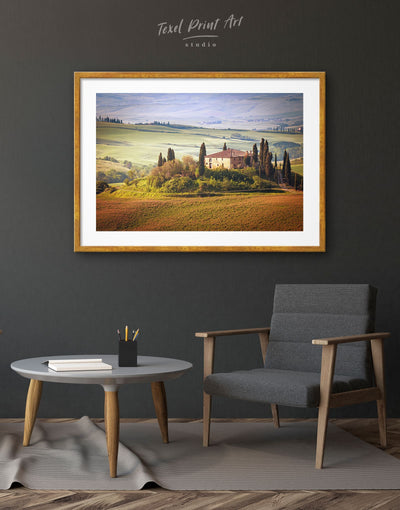 Framed Chiana Valley Italy Wall Art Print - bedroom framed print Hallway Italy wall art landscape wall art