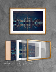 Framed Chicago Skyline Print