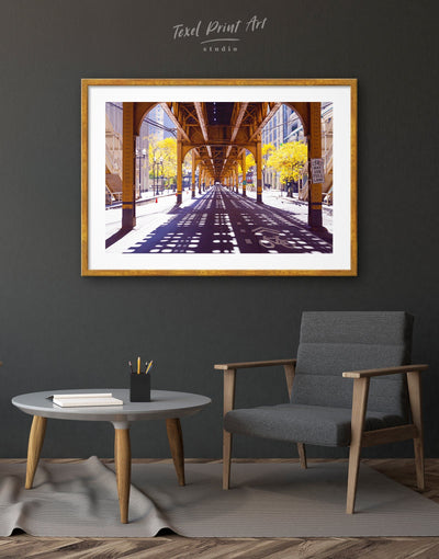 Framed Chicago Wall Art Print - bedroom City Skyline Wall Art Cityscape framed print Hallway
