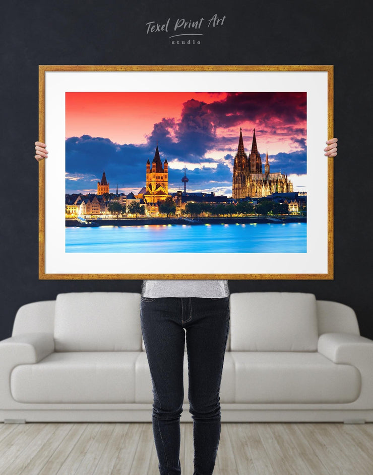 Framed Cityscape View Wall Art Print - Wall Art bedroom City Skyline Wall Art Cityscape framed print Hallway